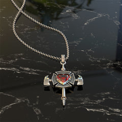 Proud Firefighter's Cross Necklace