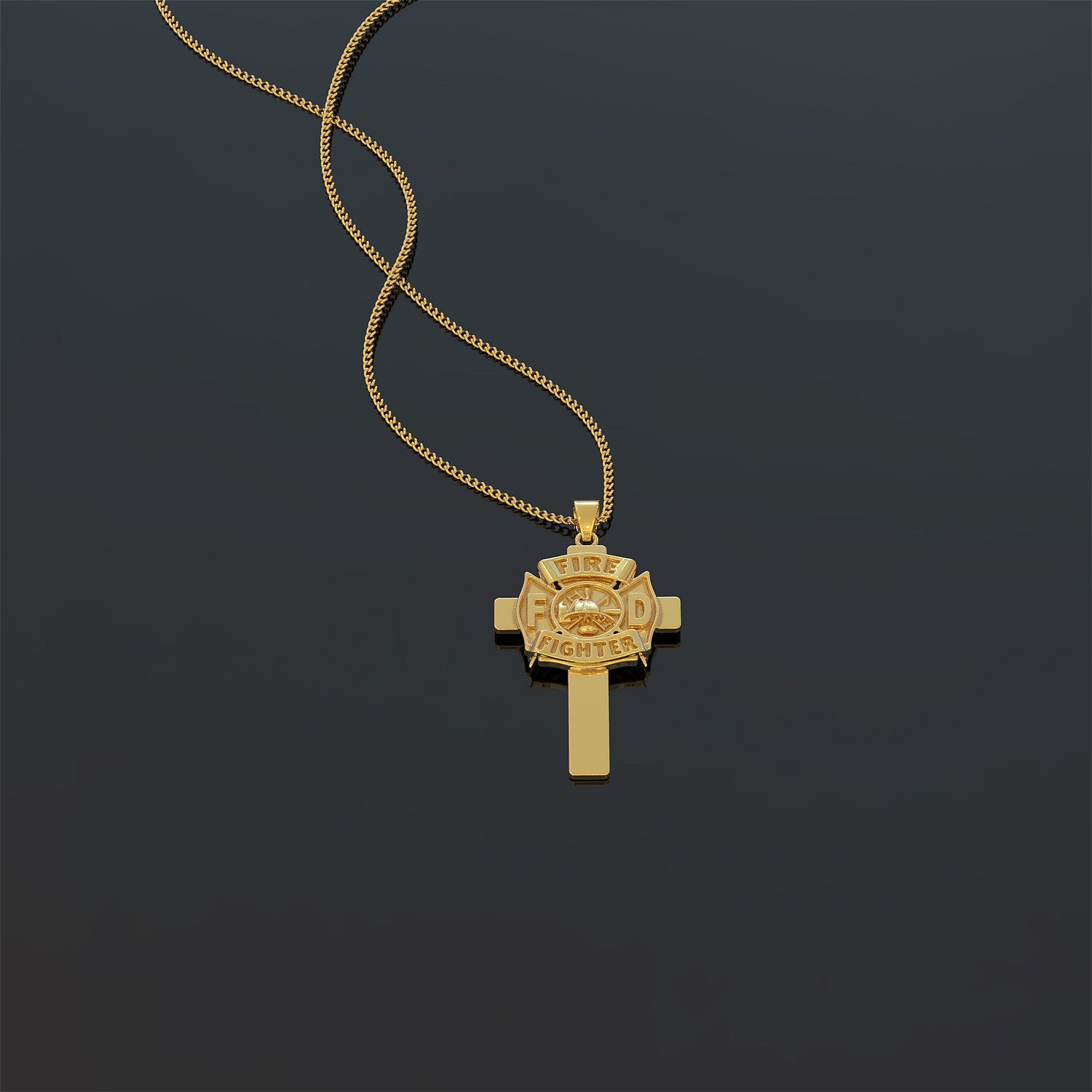 Firefighter Cross Necklace