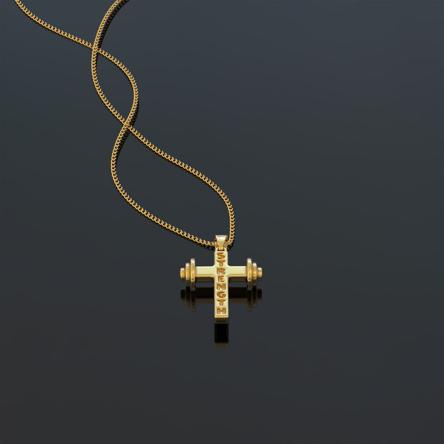 Weightlifting Christian Necklace
