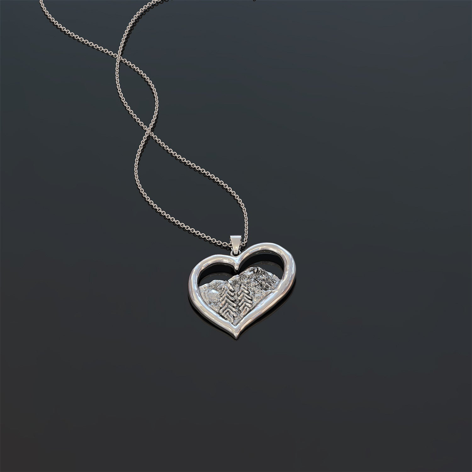I Love The Pacific North West .925 Silver Necklace