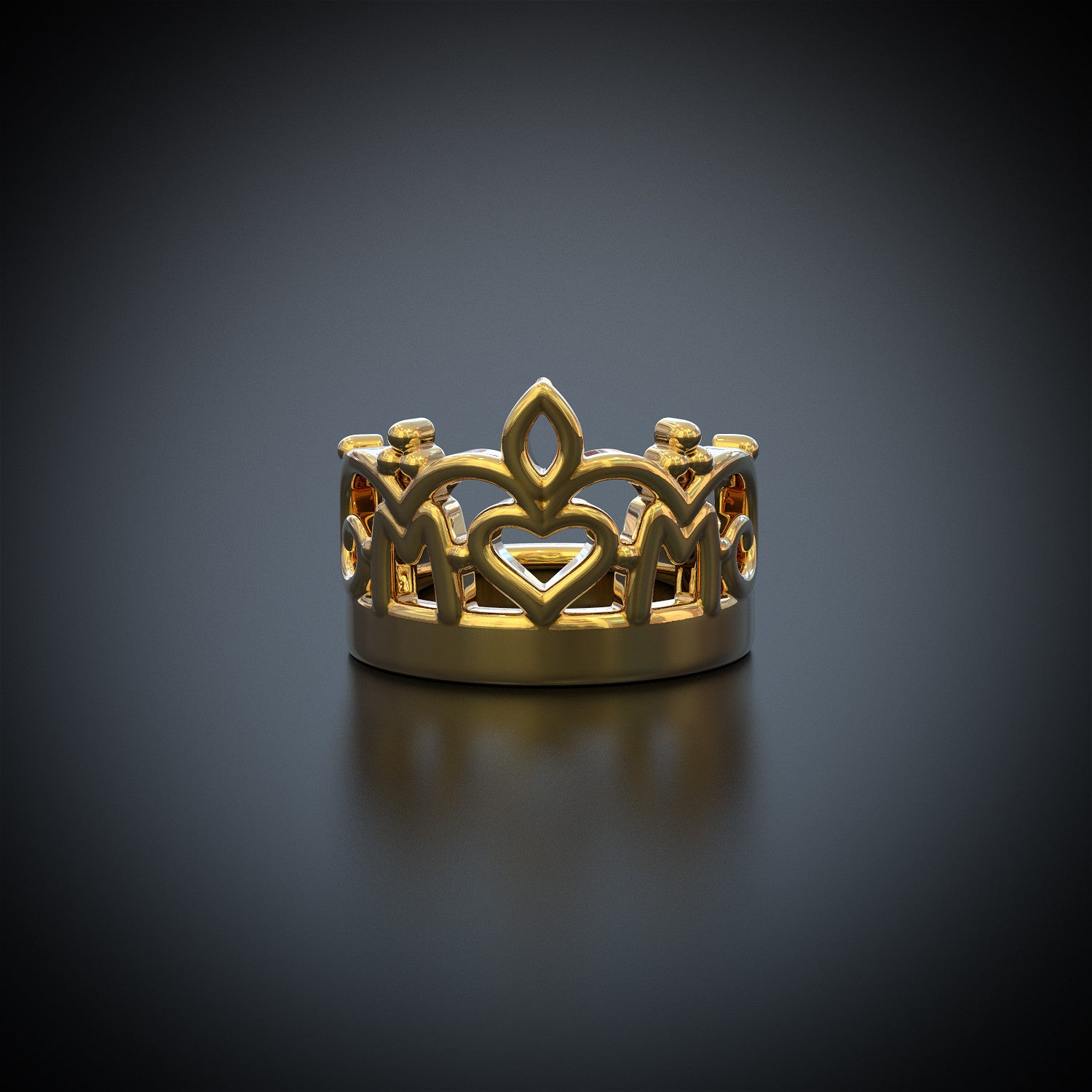 Mom Crown Ring - Mom A Title Above Queen