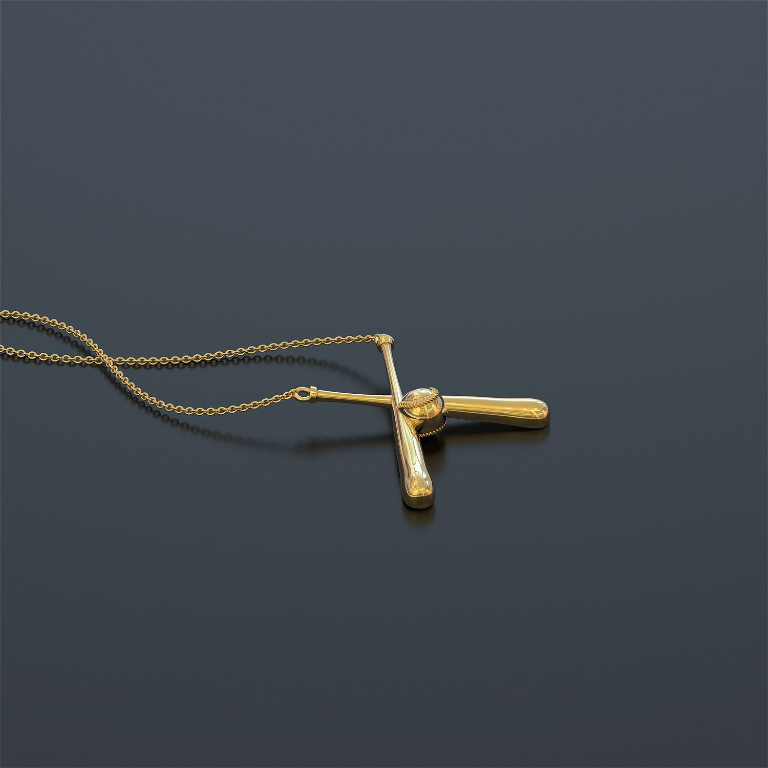 stacked pendant golden cross with chain vector baseball bat createmepink necklace