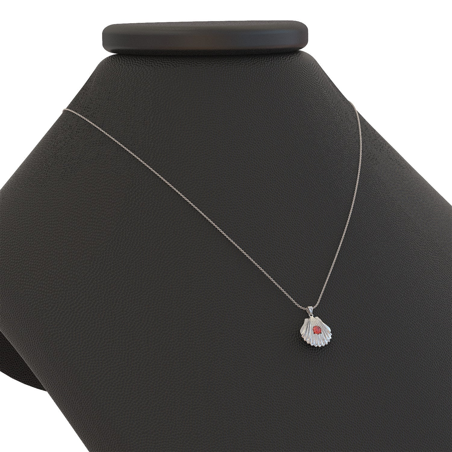 Shell Birthstone Necklace