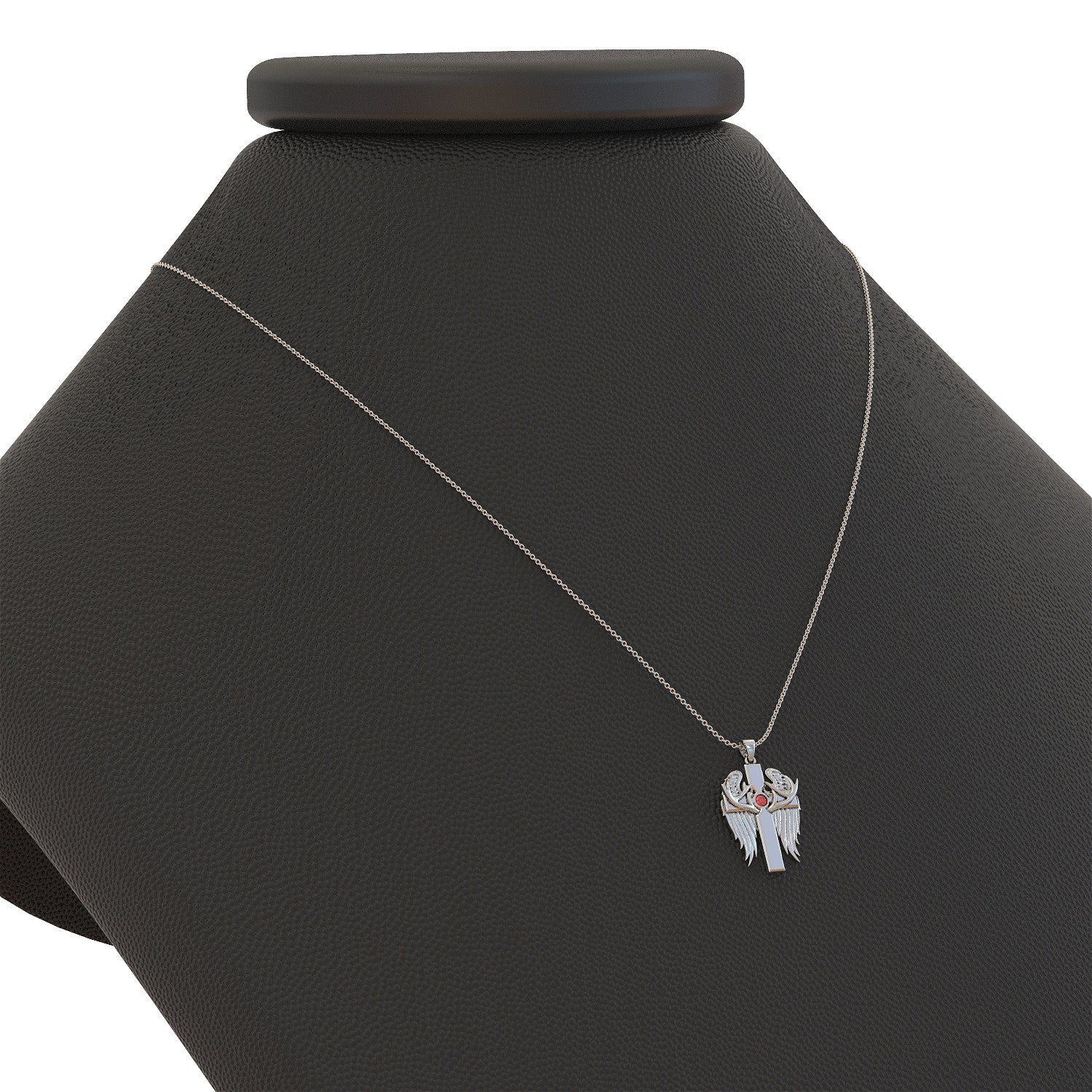 Country Angel Birthstone Pendant