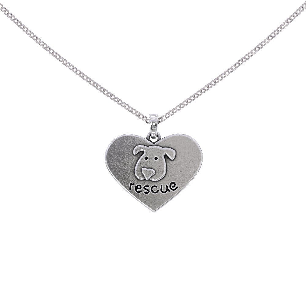 Rescue Dog Face Pendant