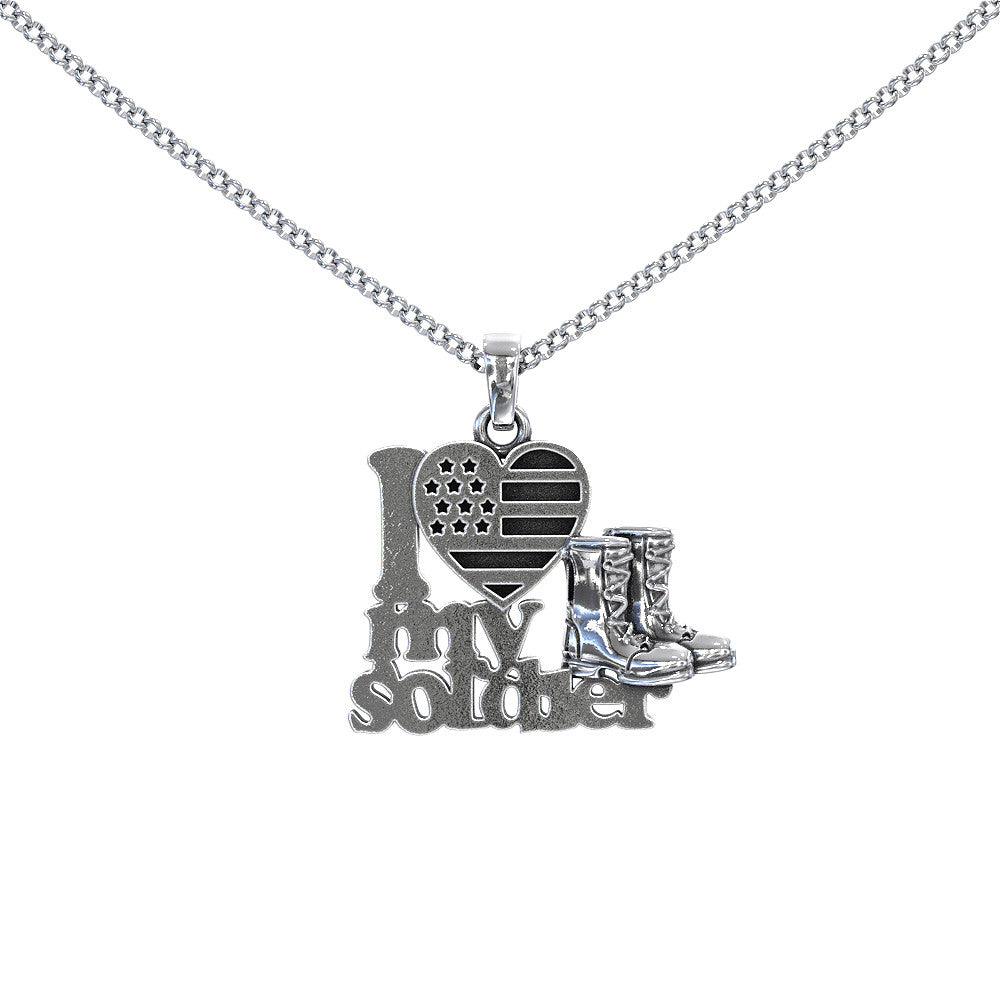 I Love My Soldier Necklace