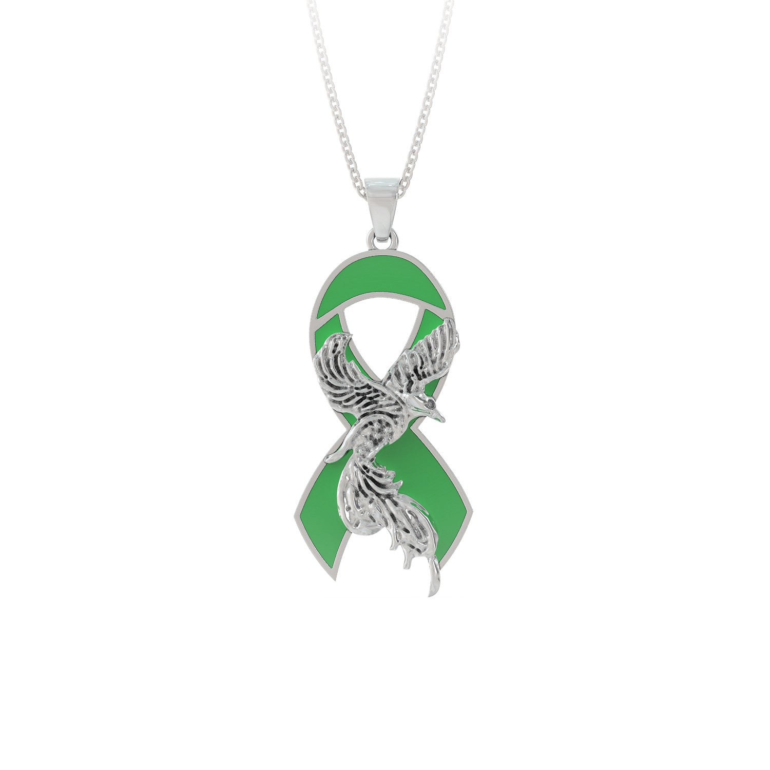 Green Pheonix Necklace