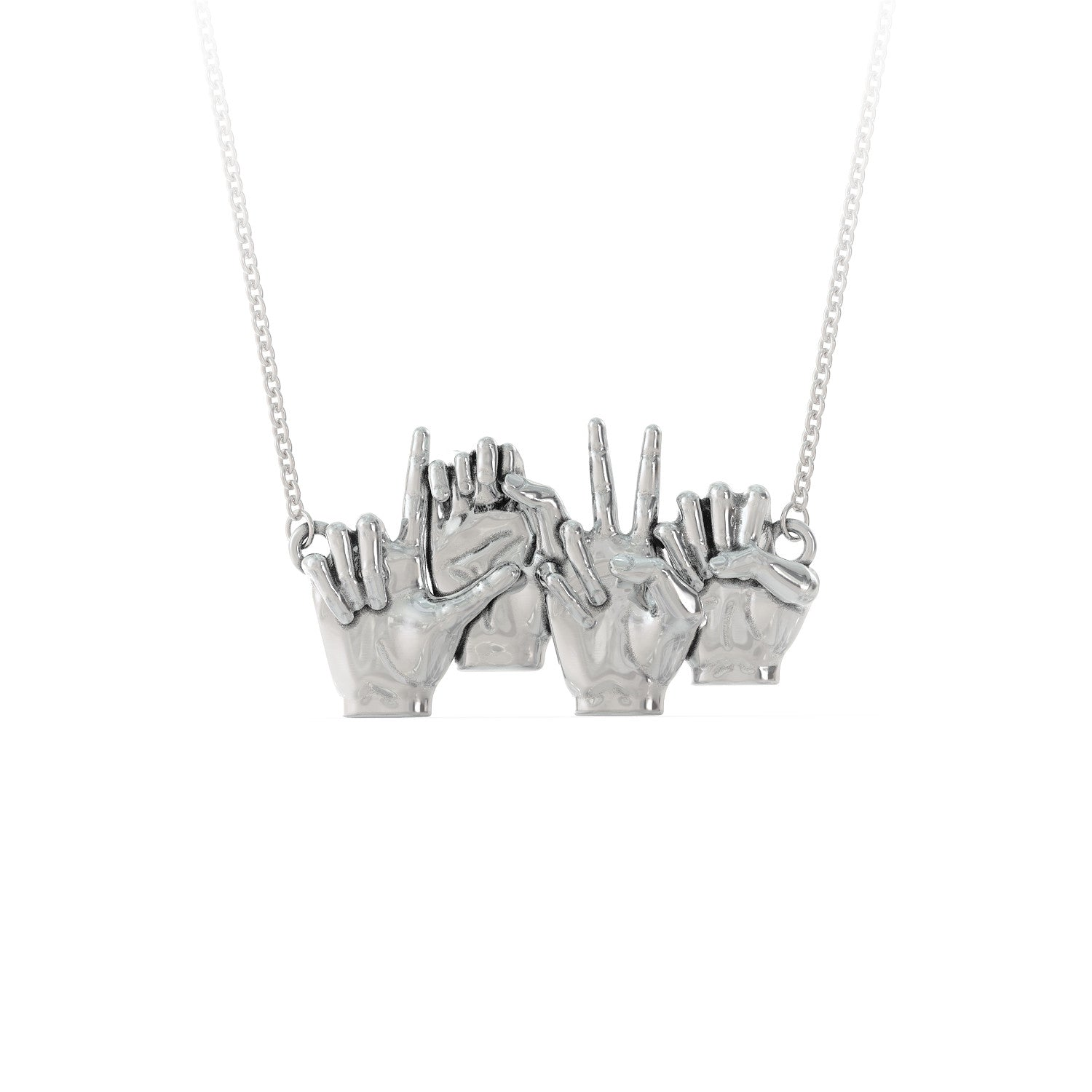 LOVE - Sign Language Necklace - LIMITED EDITION
