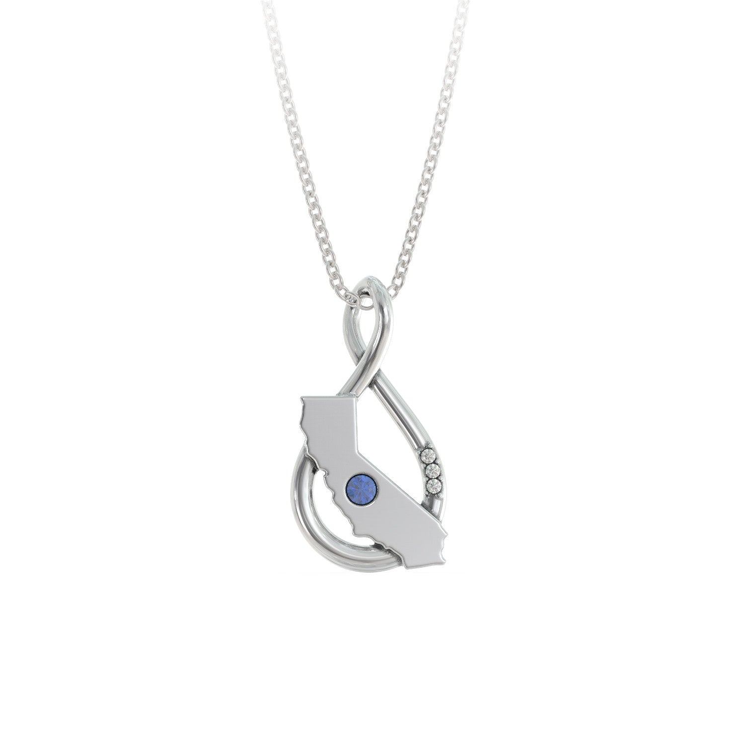California Caperci Infinity Necklace