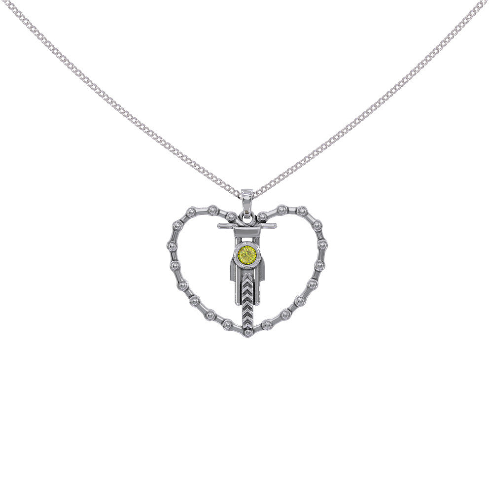 Motocross Heart Necklace
