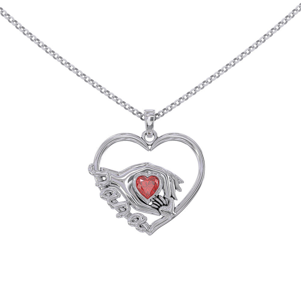 eg jewelry grandma with ever mom stainless steel best engraved heart nana necklace necklaces