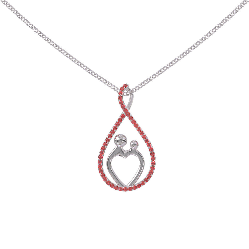 Mother Birthstone Necklace .925 Silver