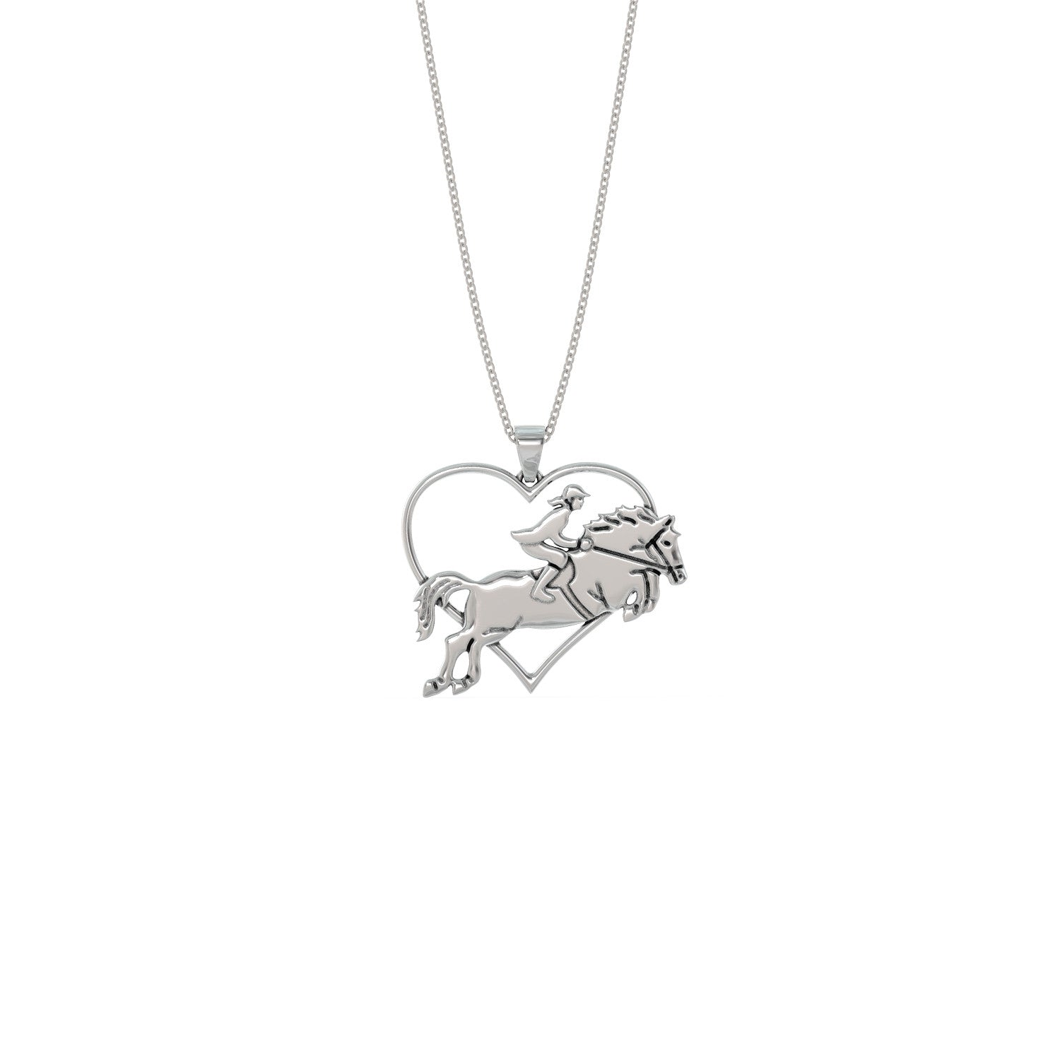 Horse Heart Design Necklace