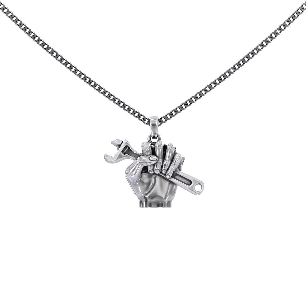 Wrench Hand Necklace