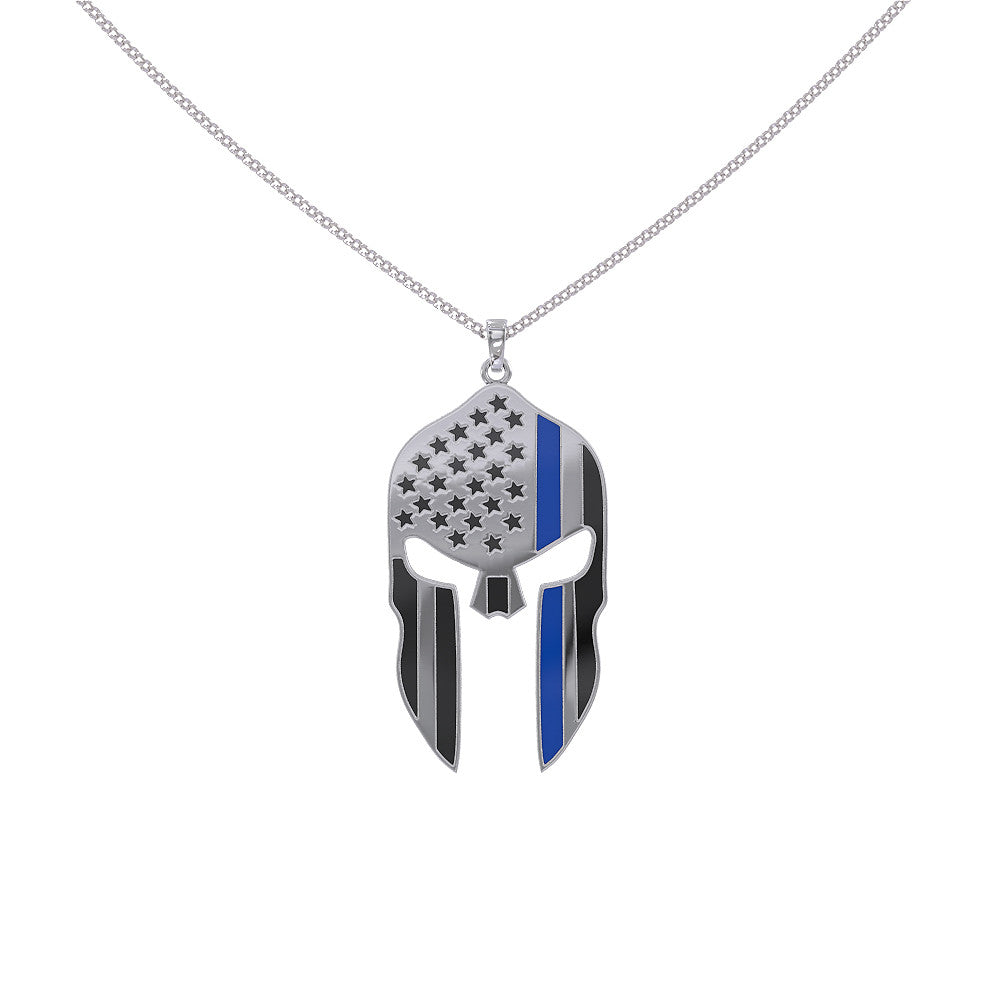 Thin Blue Line Mask Necklace