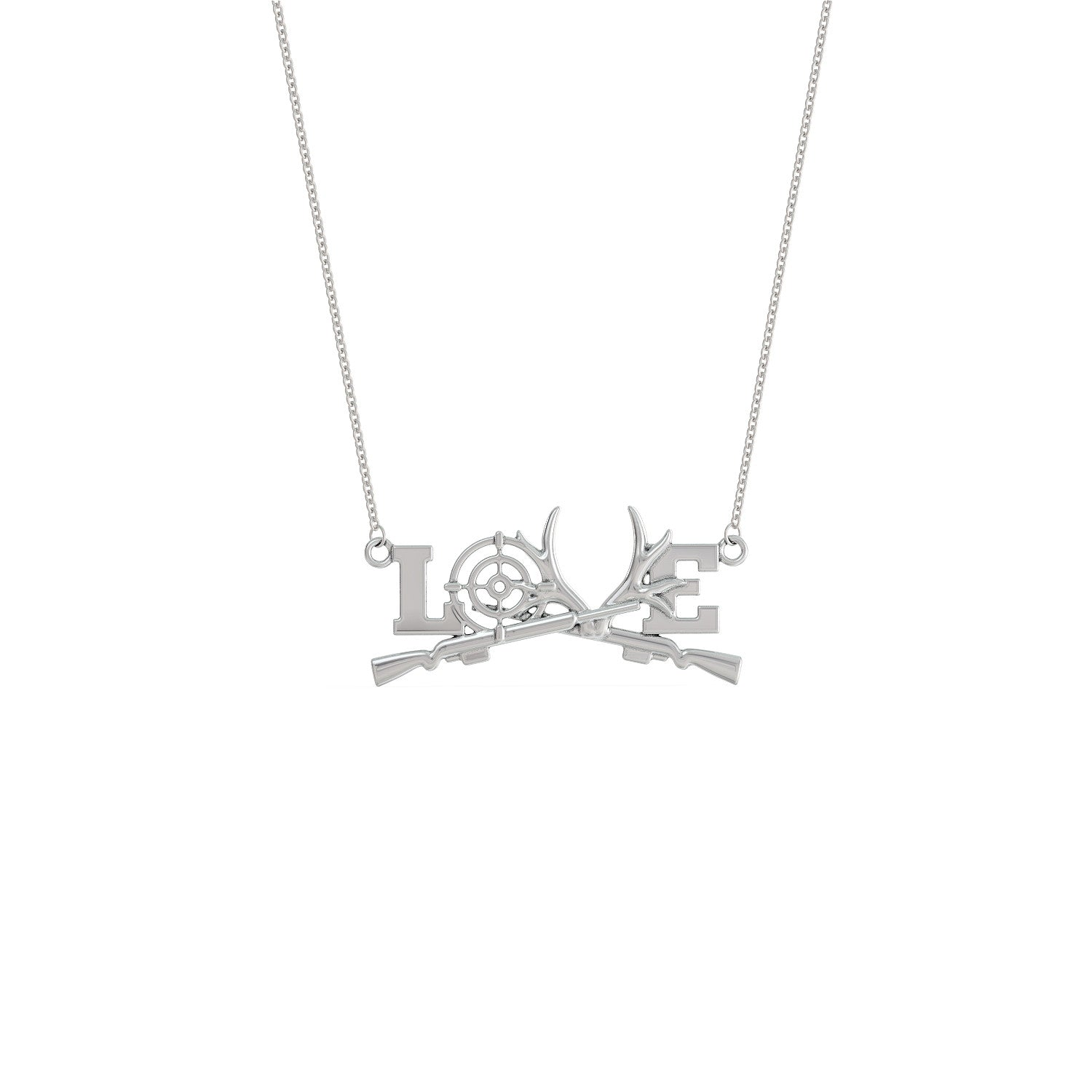 products love hunting necklace shineon