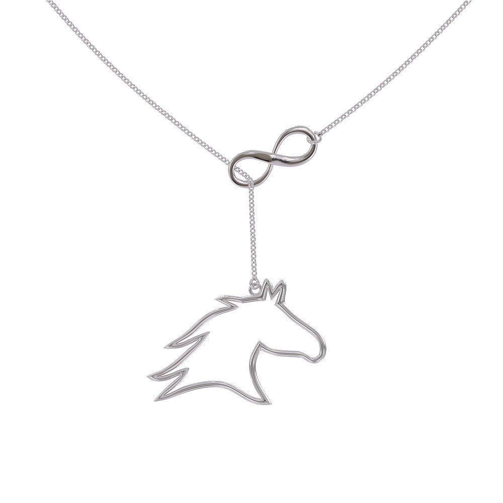 Horse Head Infinity Necklace