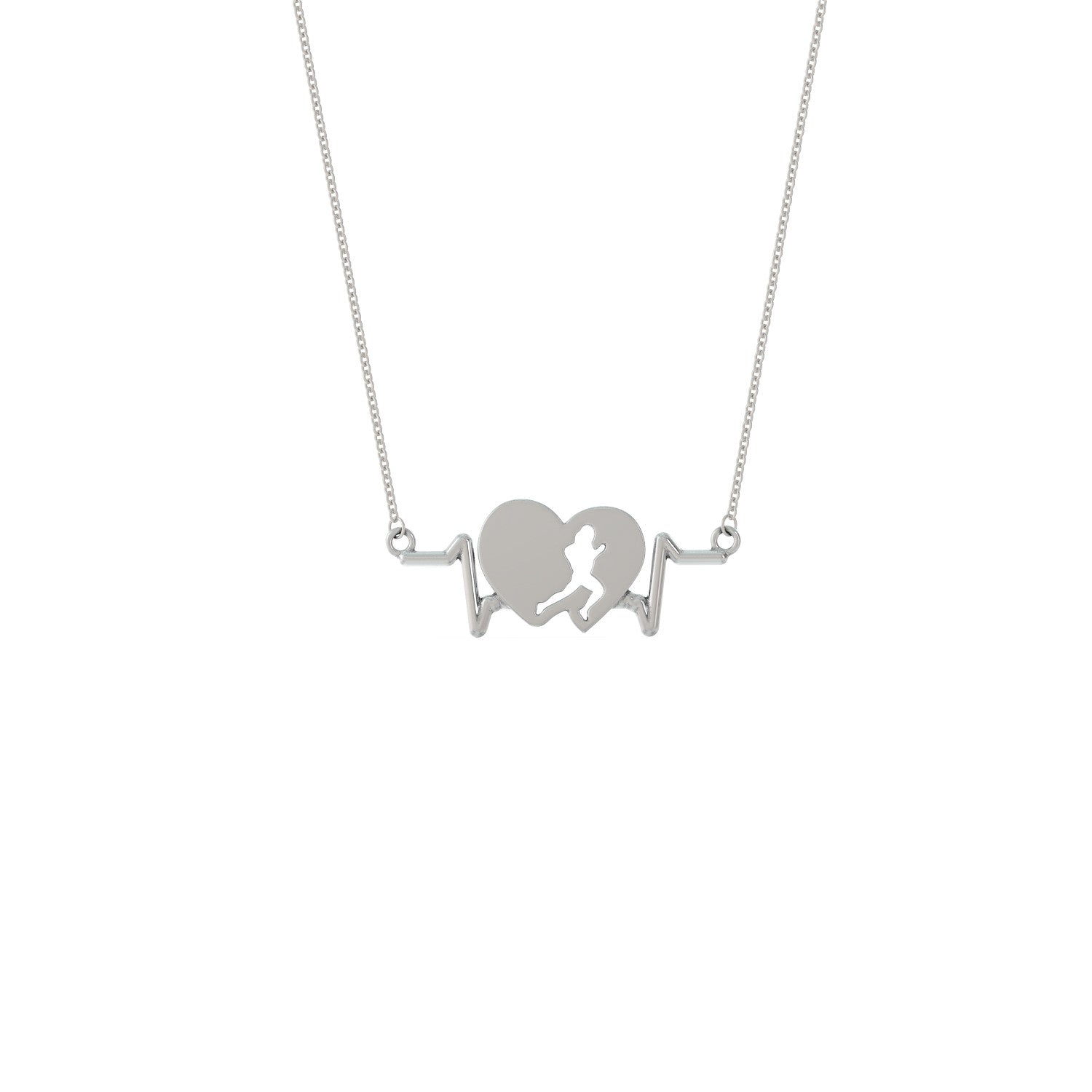 Running Heartbeat Necklace