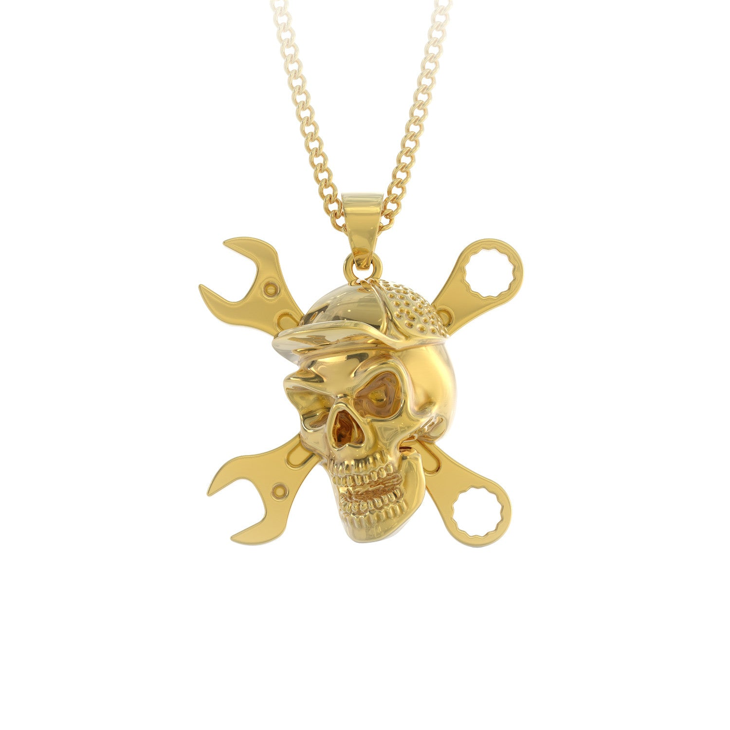 Mechanic Skull Pendant