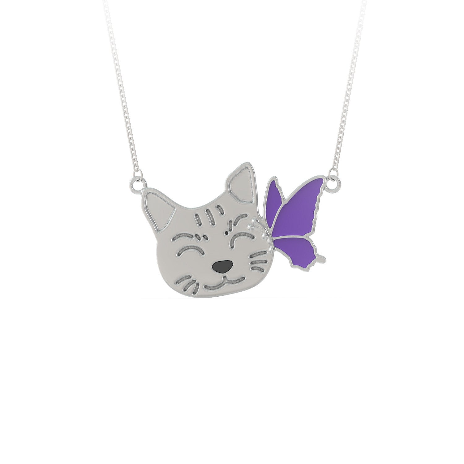 Butterfly Kitty Necklace