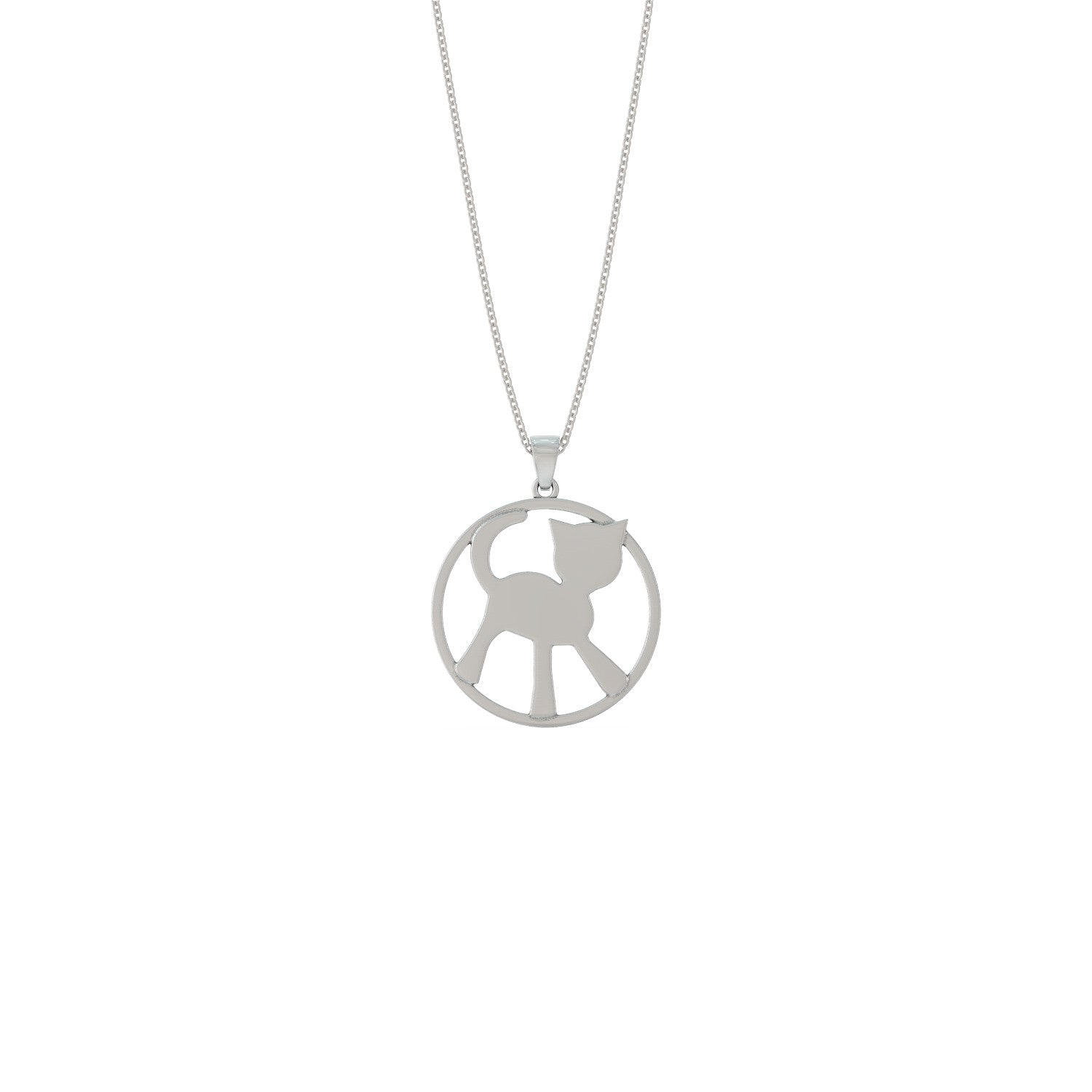 Peace Kitty Pendant Necklace