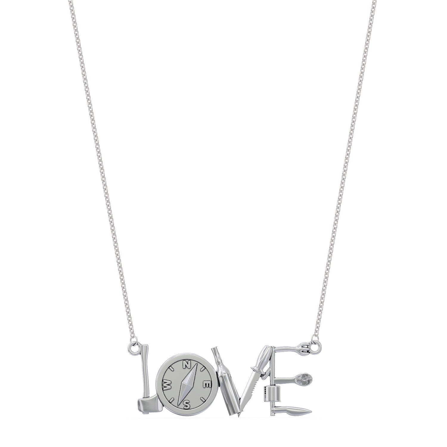 Camping LOVE Pendant Necklace