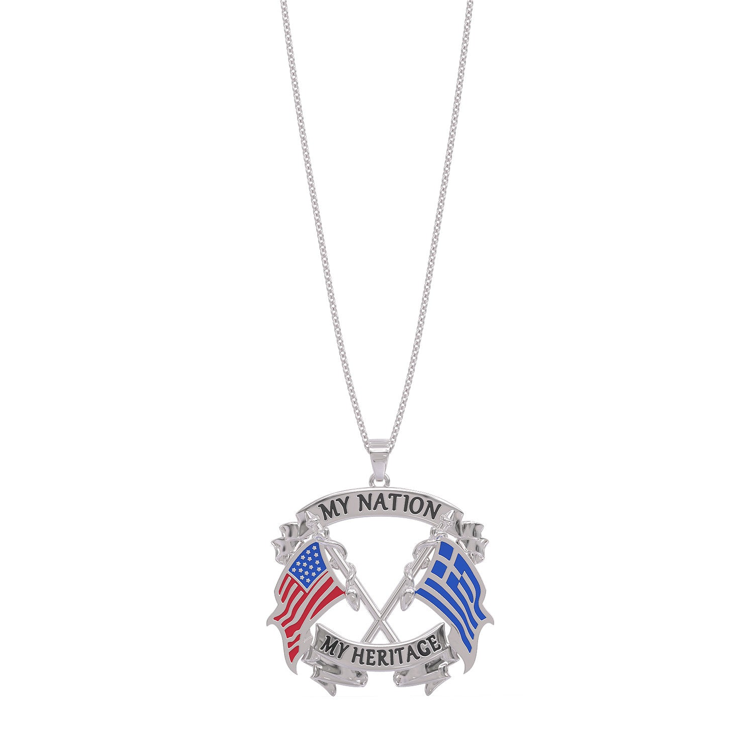 My Nation My Heritage Greek Necklace