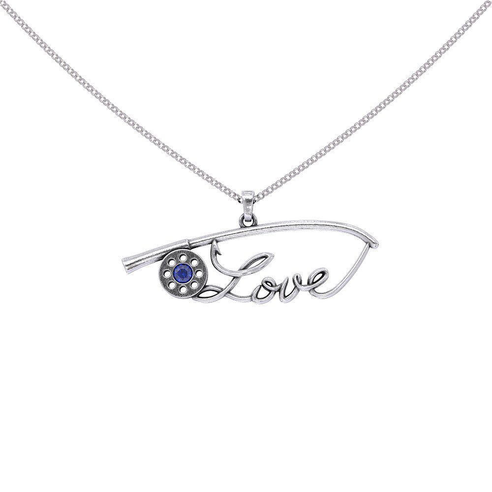 Love Fishing Rod Necklace