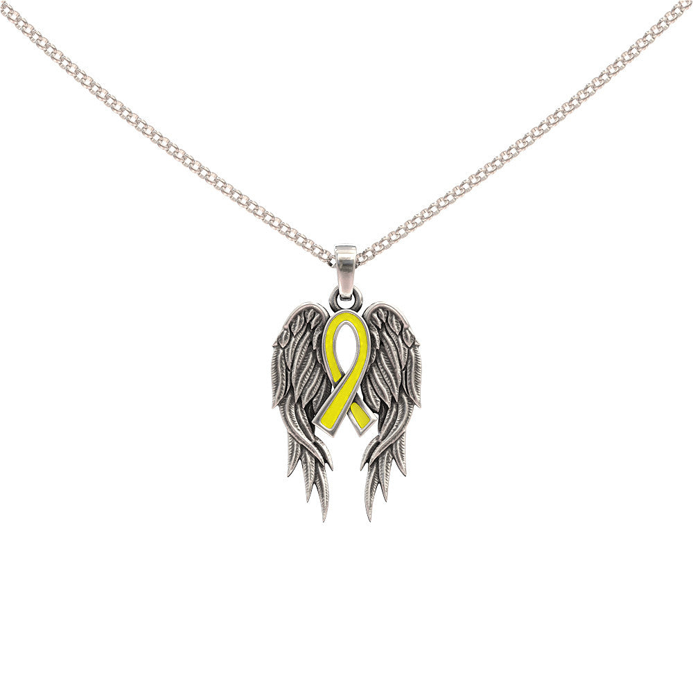 Guardian Angel Wings and Awareness Ribbon