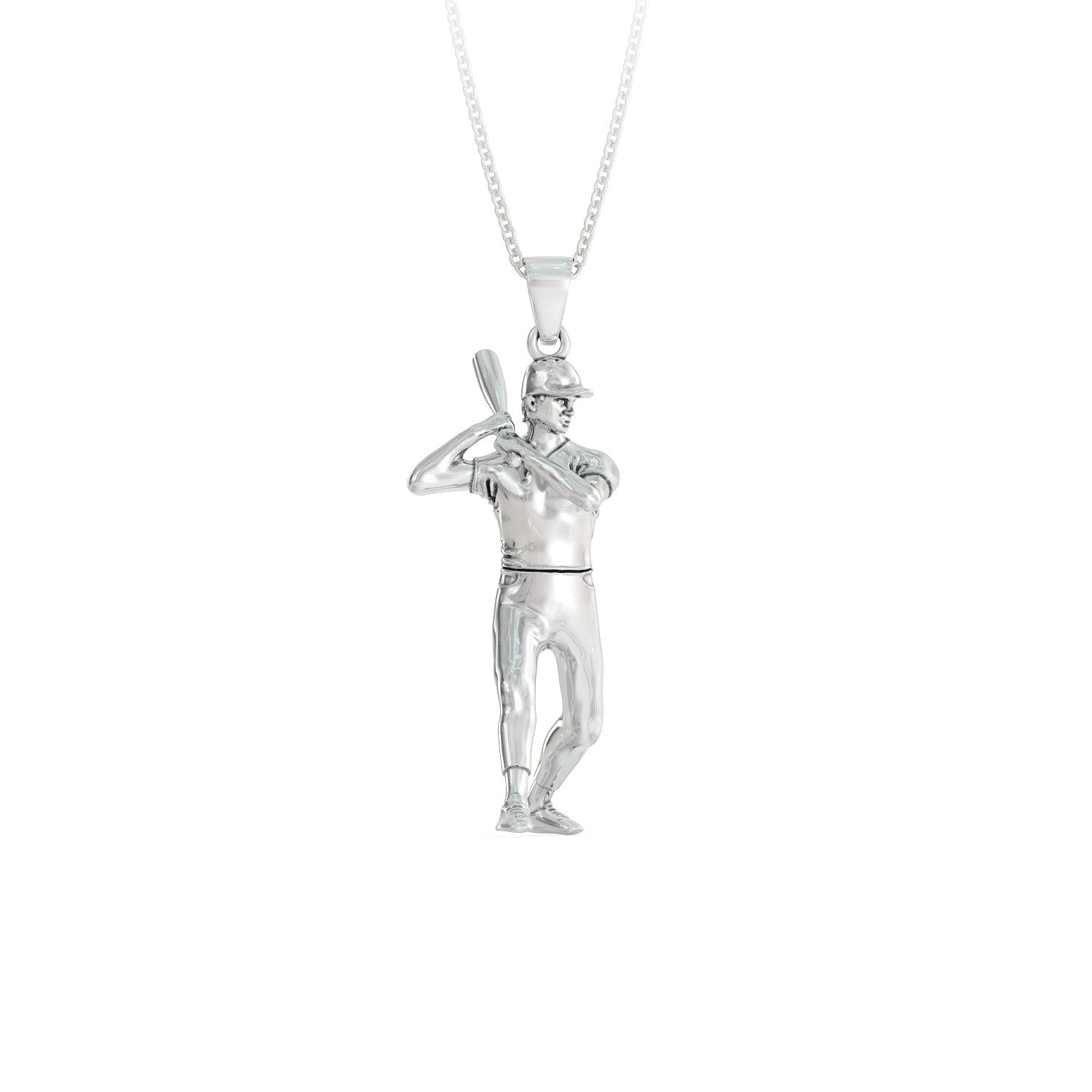 Baseball Player with Bat Necklace