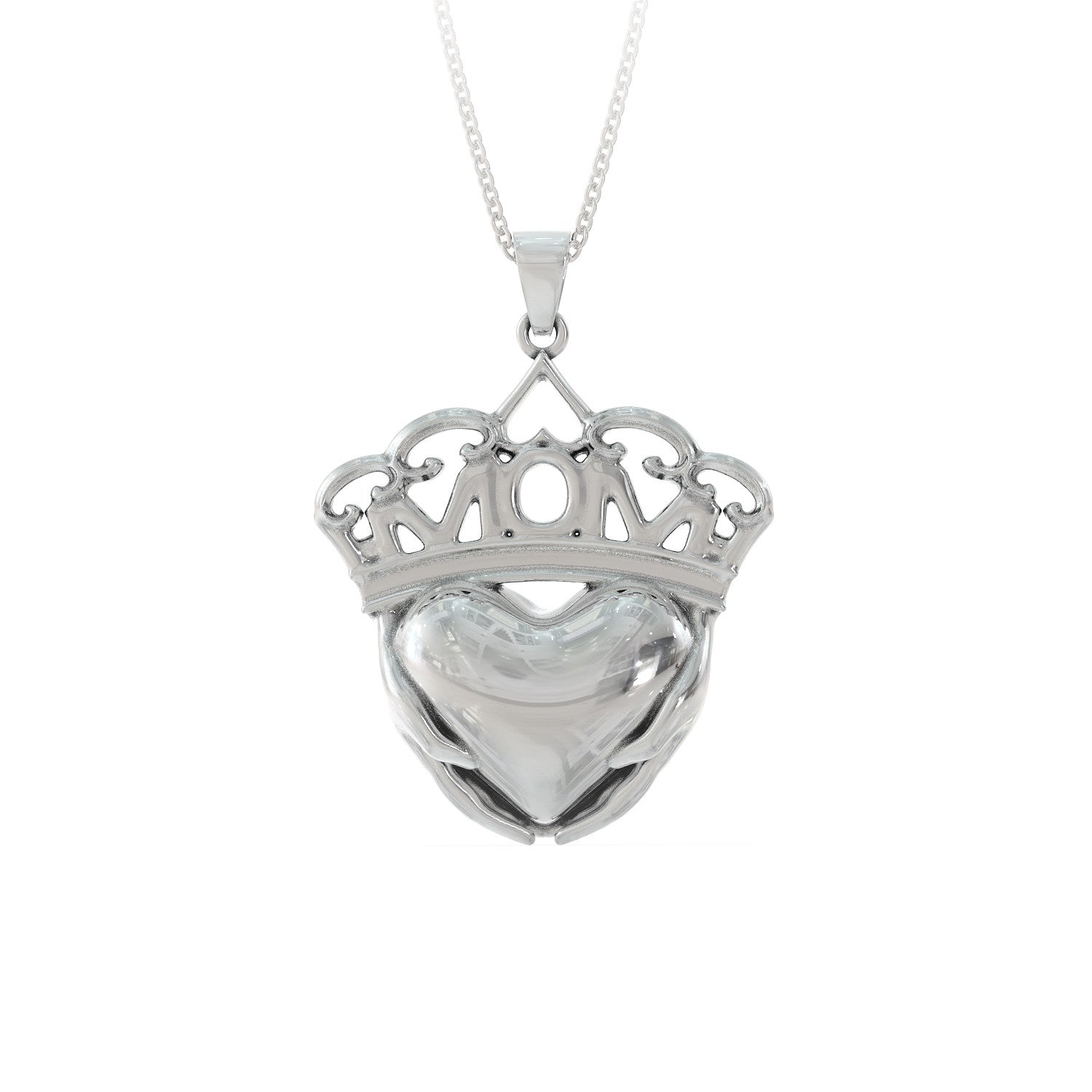 Mom Full Hands & Heart Necklace