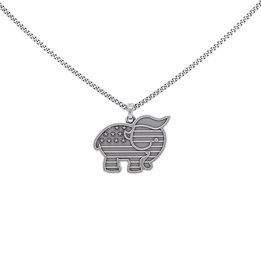 Trumplican Silver Necklace
