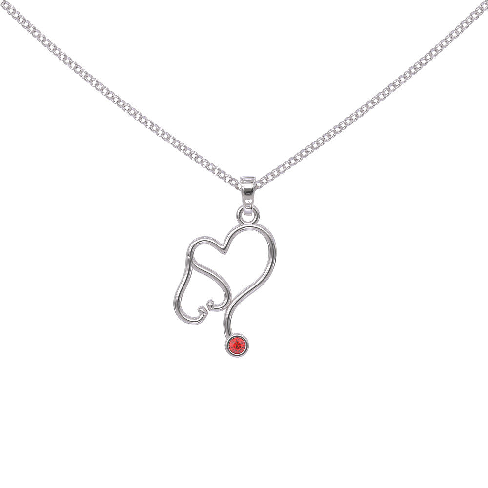 Nurse Birthstone Necklace