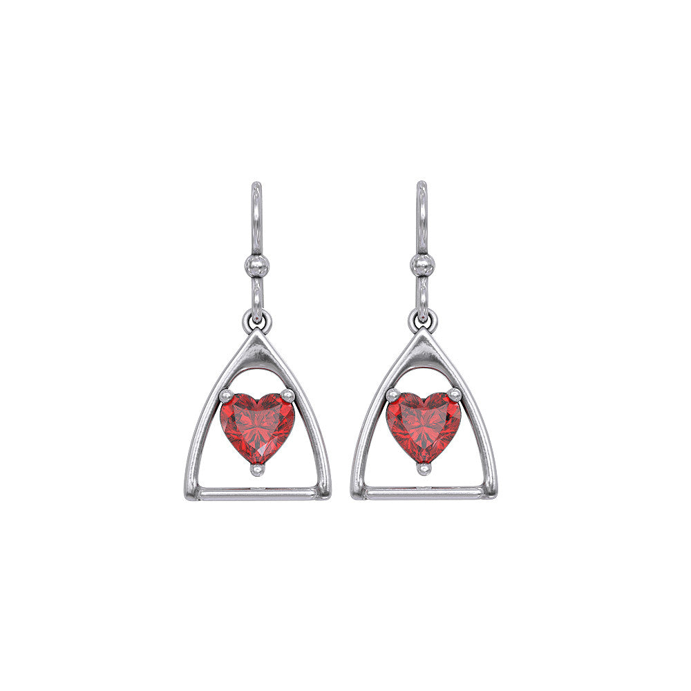 Horse Stirrup Birthstone Earrings - LIMITED RELEASE