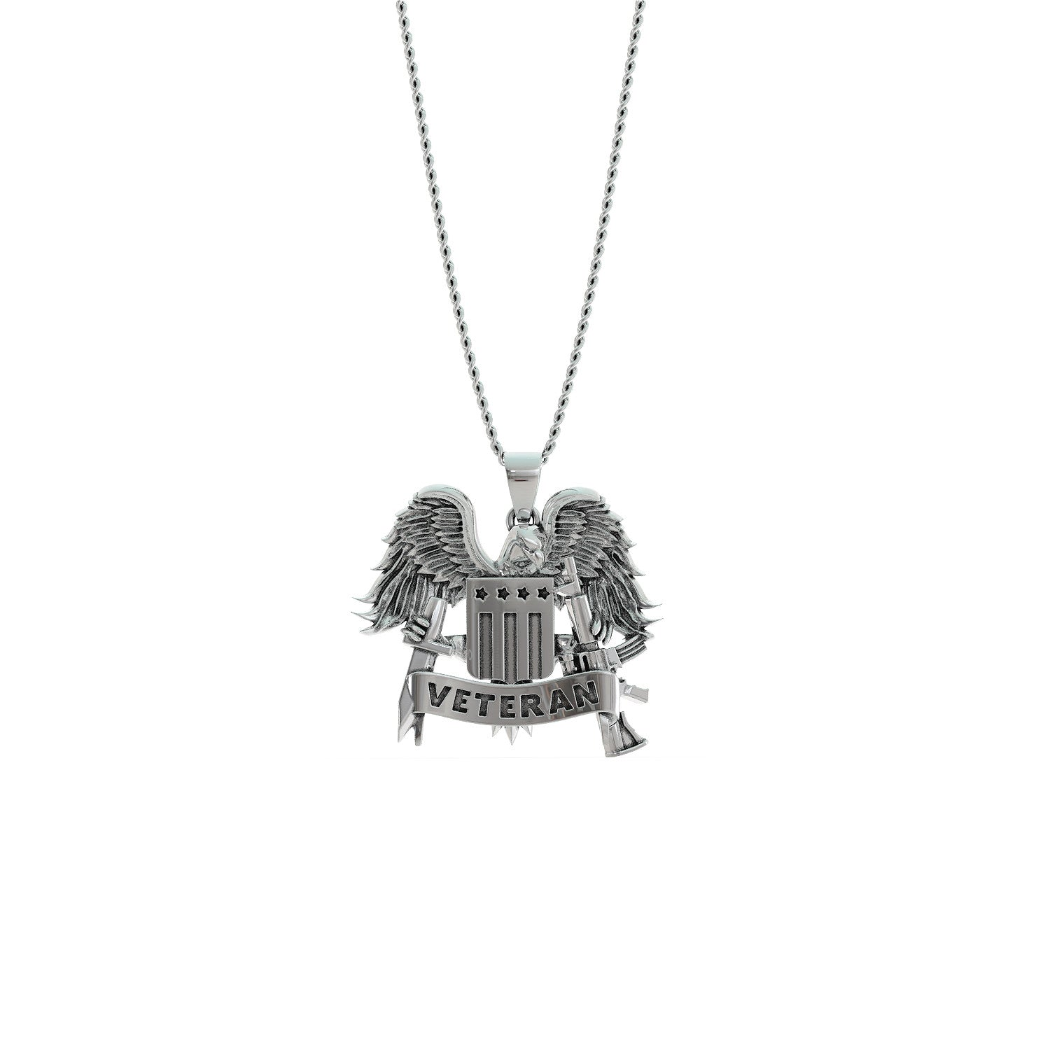 I'm A Veteran - I Fear God And My Wife Necklace
