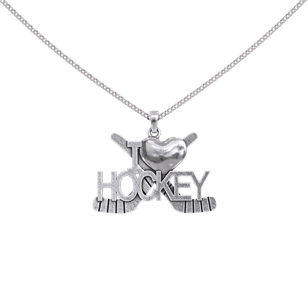 I Love Hockey Necklace
