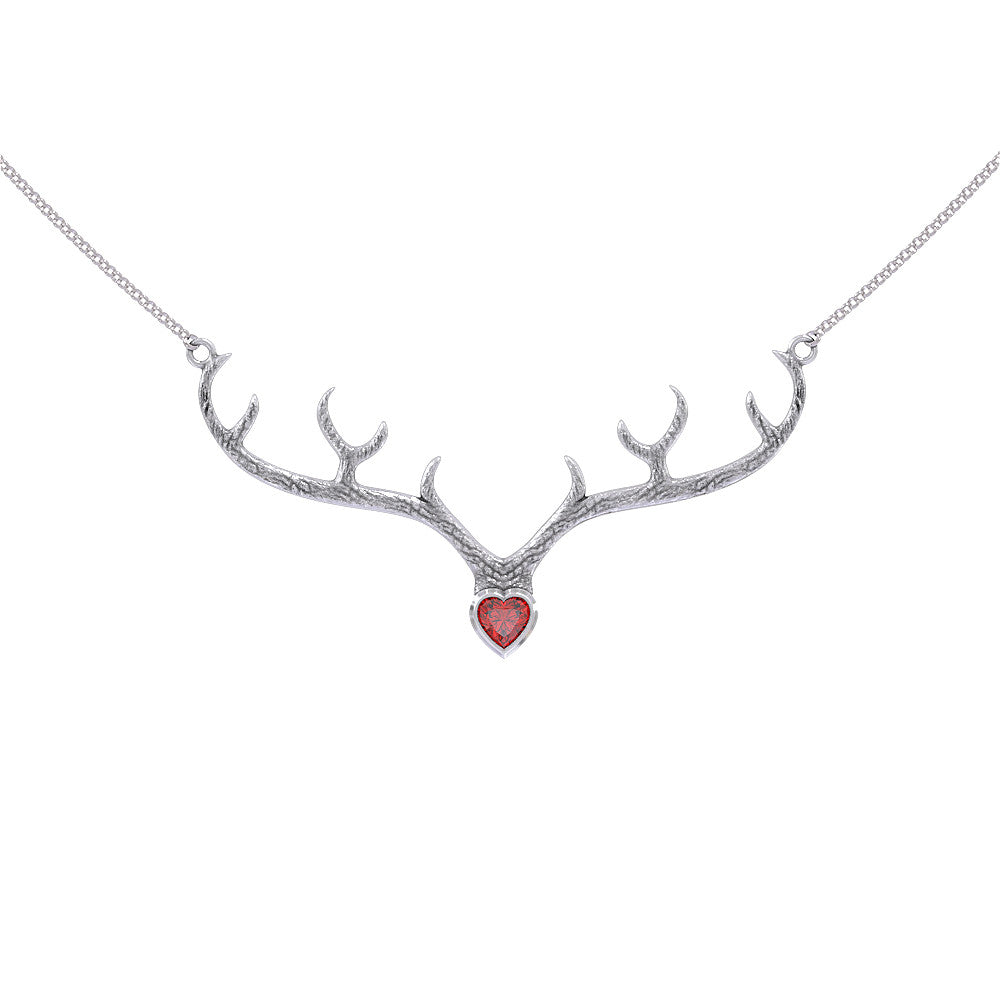 Personalised Birthstone - Antlers Necklace