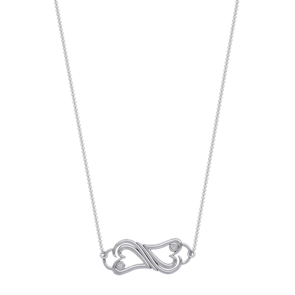 Two Hearts Connected Necklace