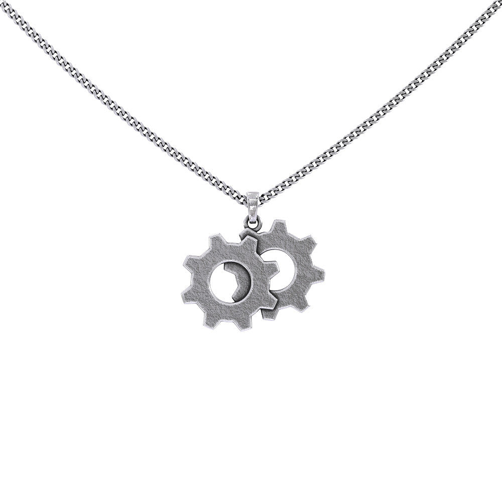 TWIN GEAR PENDANT