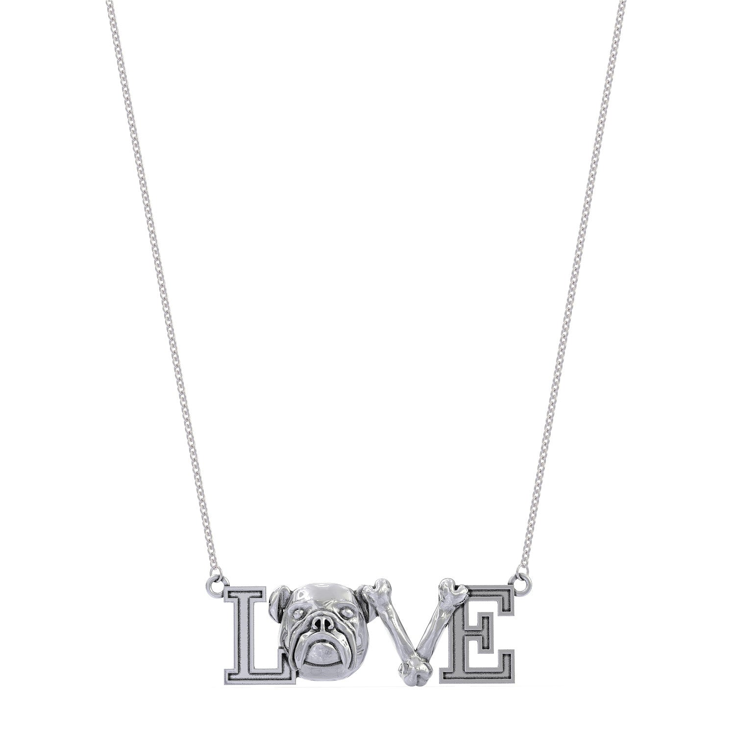 Bulldog Love Necklace