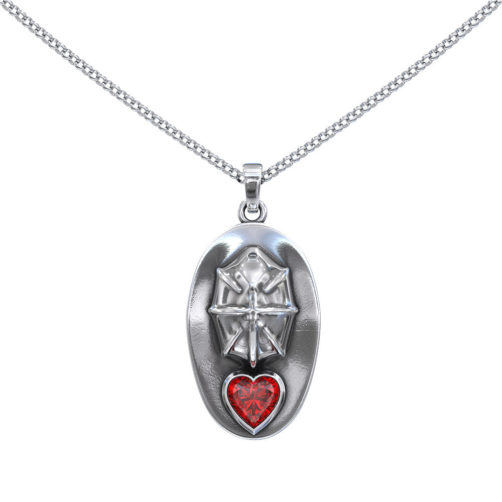 My Heart Belongs To A Firefighter Necklace