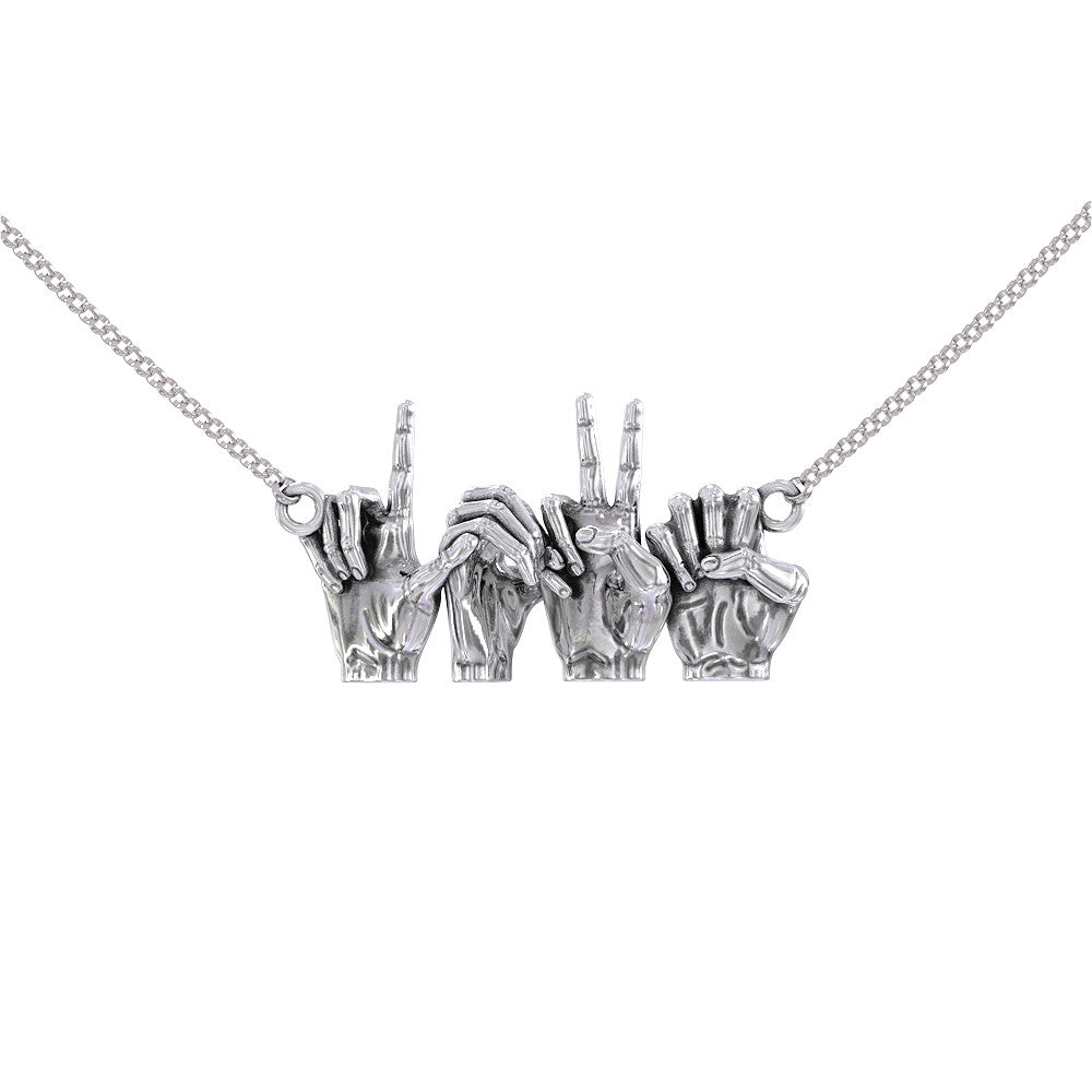 Love Sign Language Necklace