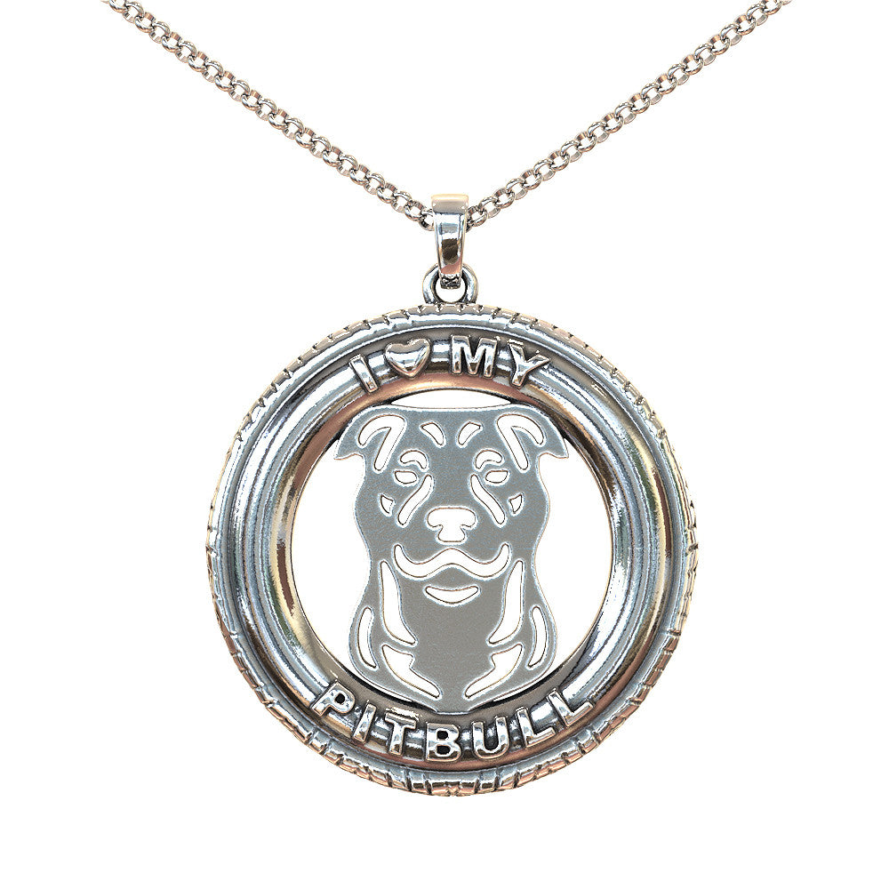 I Love My Pitbull Pendant