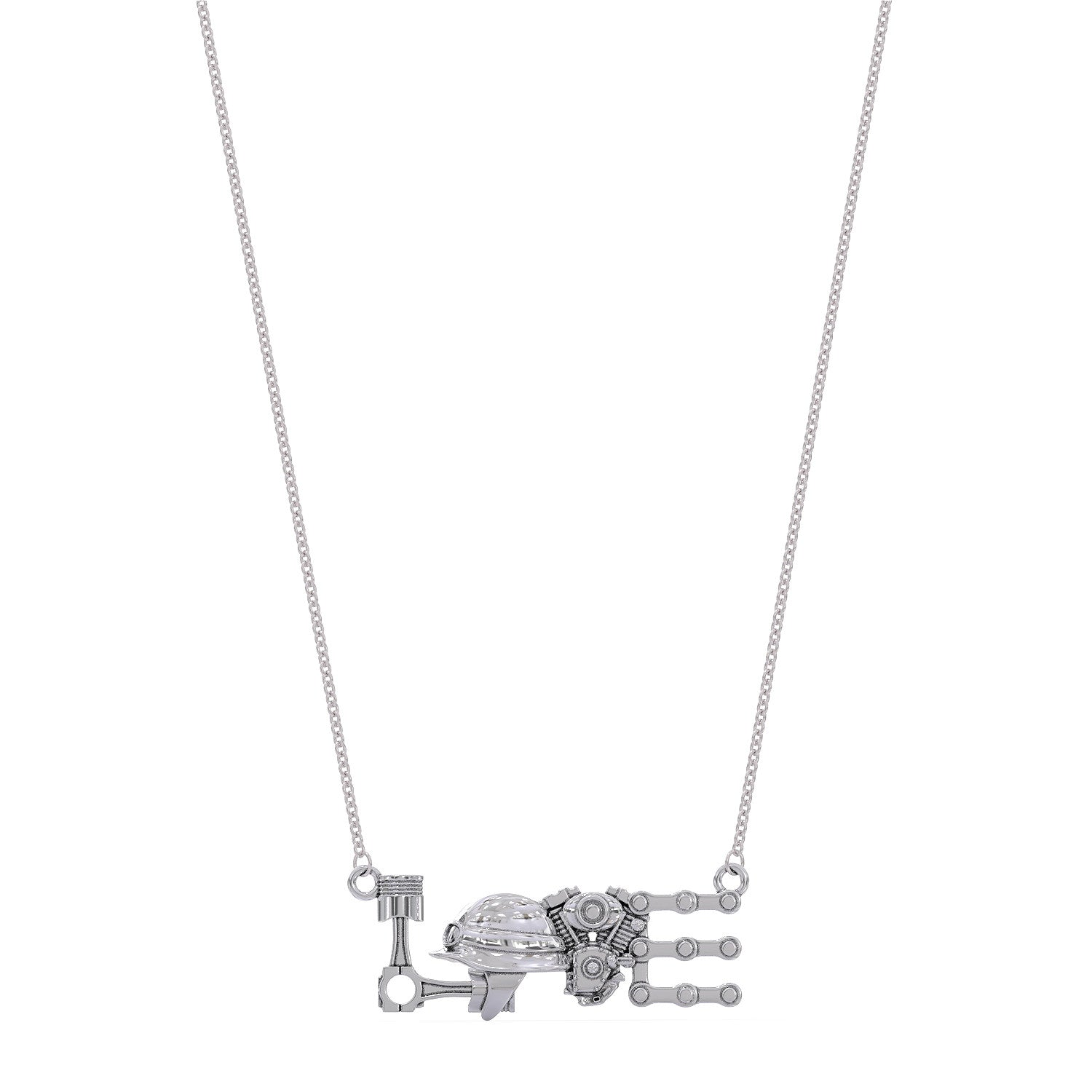 Motorcycle LOVE Pendant Necklace