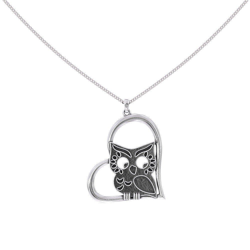 Owl In My Heart Necklace