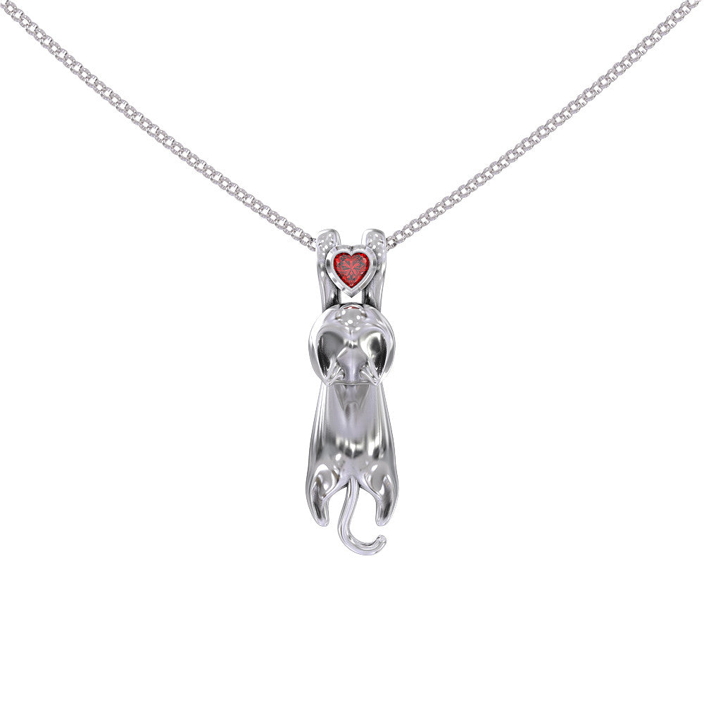 Cat Love Birthstone Pendant