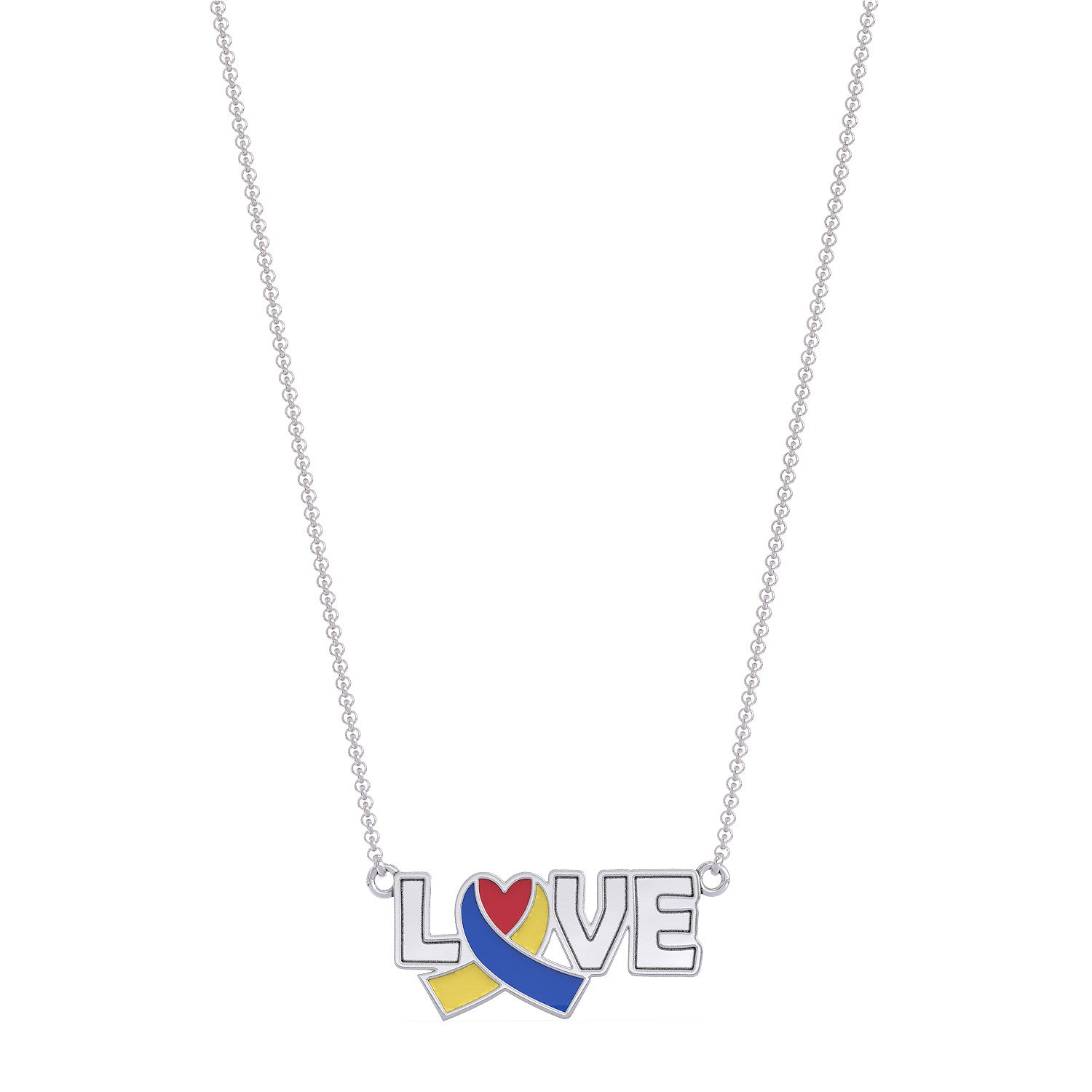 Down Syndrome Awareness LOVE Necklace