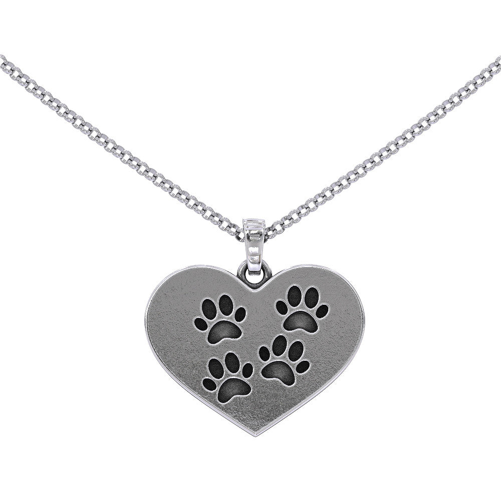 Pawprint On My Heart Pendant