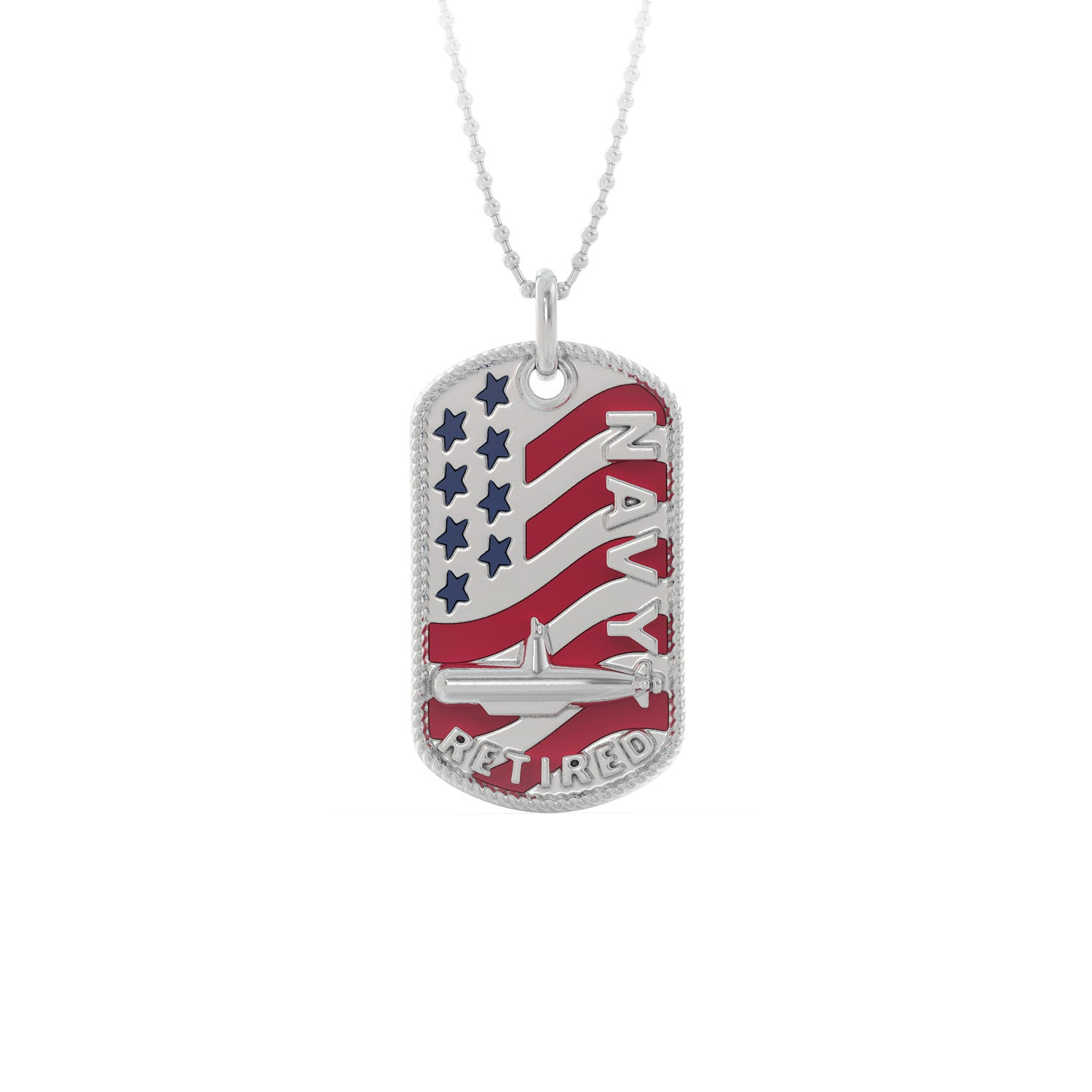 Navy Sub Service Retired Dog Tag Pendant
