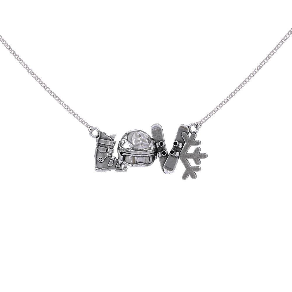 Snowboarding Love Necklace